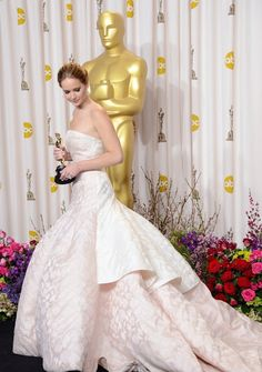 Jennifer Lawrence in a Dior Gown