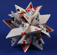 12-Card Star --- George Hart    Includes a template to make it yourself! :D