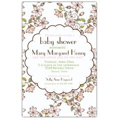 Cherry Blossom Baby Shower Invitations | PaperStyle