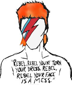 Find images and videos about rock, rebel and david bowie on We Heart It - the app to get lost in what you love. Bowie Ziggy Stardust, David Bowie Ziggy, David Bowie Lyrics, David Bowie Quotes, David Bowie Art, David Bowie Poster, David Bowie Tattoo, David Bowie T Shirt, Lady Stardust