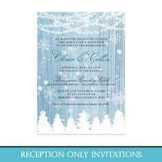 Winter Wonderland Post-Wedding Reception Only Invitations