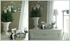 christmas bedroom: white/natural decor