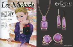 The #viola collection looks gorgeous in Lee Michaels Fine Jewelry's #holiday2013 Accent magazine. What do you think?