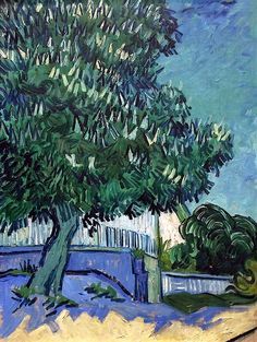Chestnut Tree in Blossom by Vincent van Gogh