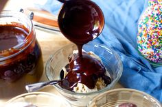 This hot fudge sauce is done in 10 minutes and makes all days that include it better than those that do not.