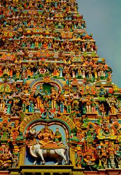 Hindu Temple up close - and lovely.