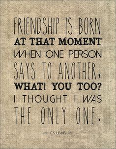C.S. Lewis friendship literary quote