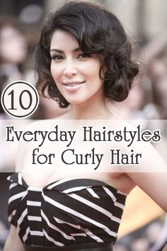 Everyday Hairstyles for Curly Hair: Here are 10 Formal and beautiful hairstyles for curly hair for your inspiration.
