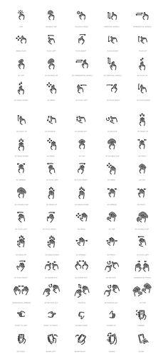 Gesture Icon Set by WordPress Design Awards, via Behance