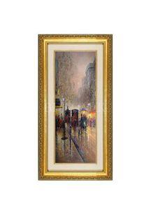 油画 高档手绘油画+简约环保外框 W1040*H2850mm