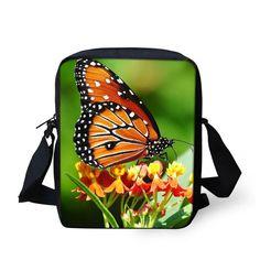 bec11e5fbf78 Brand Designer Women Messenger Bags Butterfly Shoulder Travel Bag Girl –  Gifts… School Bags For