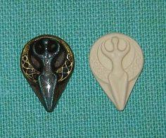 Moon Goddess Polymer Clay Push Mold 4 Pendant Charm DIY Jewelry Pagan Wicca # 4