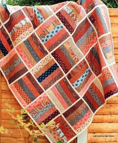 Jelly Roll Rail Fence Quilt Pattern