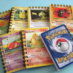 Mini Pokemon Notebook  Recycled Trading Cards by StalkingMarla, $2.00