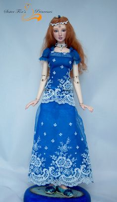 OOAK design Porcelain bjd ball jointed doll by SisterFoxPrincesses
