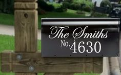 Personalized Mailbox decal/Mailbox name by 256VinylDesigns on Etsy