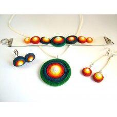 Spirálos ékszerszett 07 Drop Earrings, Jewelry, Jewlery, Jewels, Jewerly, Jewelery, Chandelier Earrings, Accessories