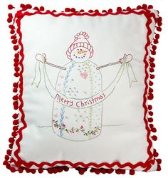 Pinterest Hand Embroidery Patterns | Hand Embroidery Pattern - Crazy Quilt Snowman - ... | a stitch in tim ...