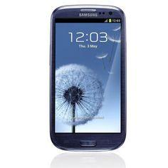 Smartphone Samsung Galaxy S III I9300 azul desbloqueado, por apenas R$1799.10