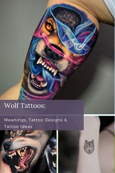 Wolves have different symbolism depending on the story, so it's up to you to decide what your wolf tattoo means. Whether you decide to get a portrait, new or old school design, there are so many stunning ways to capture a wolf. Unique Tattoos For Women, Cool Tattoos For Guys, Cool Small Tattoos, Tribal Wolf Tattoo, Wolf Tattoo Design, Wolf Tattoo Meaning, Color Tattoos, Cool Forearm Tattoos, Best Sleeve Tattoos
