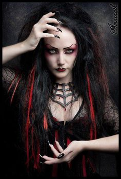 Dark horror #Goth girl love her necklace