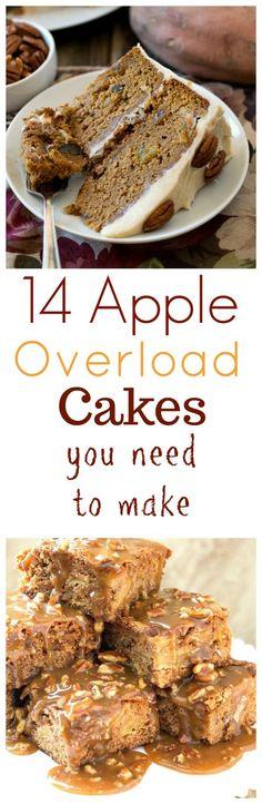 14 Apple Overload Cakes You Need to Make Apple Cake Recipes, Dessert Recipes, Apple Cakes, Pear Recipes, Cinnamon Mug Cake, Reeses Cake, Pecan Desserts, Yummy Treats, Yummy Food