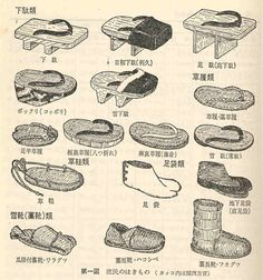 Traditional japasese shoes