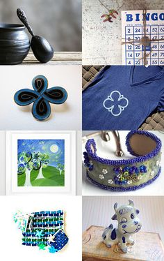 Wild Blue Bingo by Jody Lee on Etsy--Pinned with TreasuryPin.com