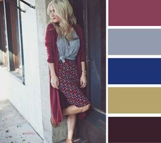 Take a look at 25 cute long cardigan outfits to try this fall in the photos below and get ideas for your own outfits! Long cardigan with tee and pencil skirt Image source Komplette Outfits, Lula Roe Outfits, Spring Outfits, Fashion Outfits, Skirt Fashion, Fall Skirt Outfits, Fashion Ideas, Casual Outfits, Summer Teacher Outfits