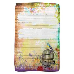 Rustic Shabby Chic Colorful Vintage Floral Hand Towel