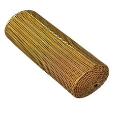 French Woven Gold Clutch | From a unique collection of vintage more objets d'art and vertu at http://www.1stdibs.com/jewelry/objets-dart-vertu/more-objets-dart-vertu/