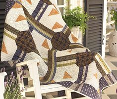 Piece this bold quilt using the earthy prints in FreeSpirit's Empire Cotton Collection by Parson Gray. The geometric blocks make an eye-catching statement admirers will appreciate.