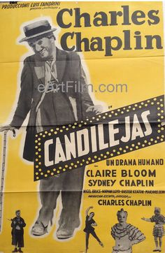 Limelight 1952 27x41 Argentina release movie poster