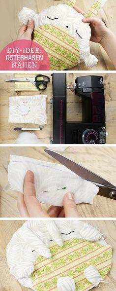 DIY-Anleitung: Kuscheligen Osterhasen nähen, Ostern / diy tutorial: how to sew a easter bunny, teddy bear via DaWanda.com