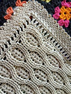 "Ravelry: Wheat Stitch Baby Blanket pattern by SassySSS,free pattern.I am so in love the combination of fingering weight yarn and the ""wheat stitch. I am (hopefully) going to have the border .This gorgeous heirloom piece can be worked in a wide variety o Crochet Afghans, Crochet Blanket Patterns, Baby Blanket Crochet, Crochet Stitches, Crochet Baby, Knit Crochet, Knitting Patterns, Crochet Blankets, Crochet Edgings"