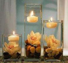 Floating candles are great centerpiece option for a modern and contemporary appearance. Description from designstylesideas.com. I searched for this on bing.com/images