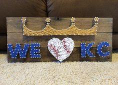 Kansas City Royals Crown String Art We Love KC by SerenityWars