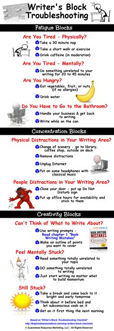What are some good ways to get rid of writers block?