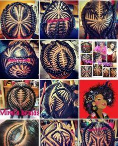 Hair braid art