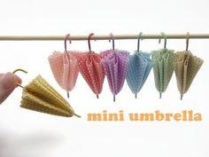 tutorial: miniature umbrellas