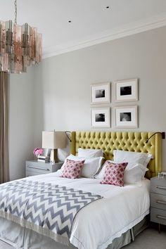 New Silver - Bedroom Design Ideas & Pictures – Decorating Ideas (houseandgarden.co.uk) #mod #chandelier