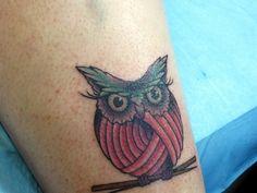 My Knit Knack Owl Tattoo by MaiyaMayhem, via Flickr