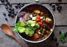 Black Bean and Butternut Squash Chili with Chipotle by dinnerwithaura #Chili #Black_Bean #Butternut_Squash #Healthy
