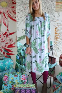 Amy Butler's Alchemy Studio Fabrics with The Drawstring Dress from Sew Red