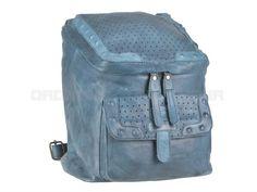 Greenburry STAINWASHED -  Leder Rucksack Damenrucksack - Pastell blue