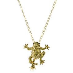 Pavé Frog Necklace now featured on Fab.