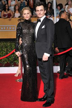 Aimee Mullins and Rupert Friend in Tom Ford [Photo by Donato Sardella]