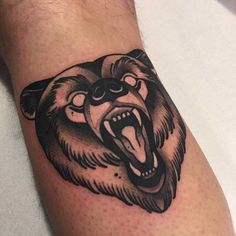 31 of the best bear tattoos from top artists around the world, plus the meaning behind them and original tattoo insider bear tattoo design Dope Tattoos, Body Art Tattoos, Sleeve Tattoos, Tattoos For Guys, Tattoo Ink, Arm Tattoo, Animal Tattoos For Men, Ship Tattoos, Black Bear Tattoo