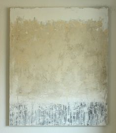 white cream grey. - 120x100x4cm - mixed media on canvas - CHRISTIAN HETZEL