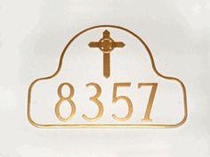 Celtic Cross Address Plaque